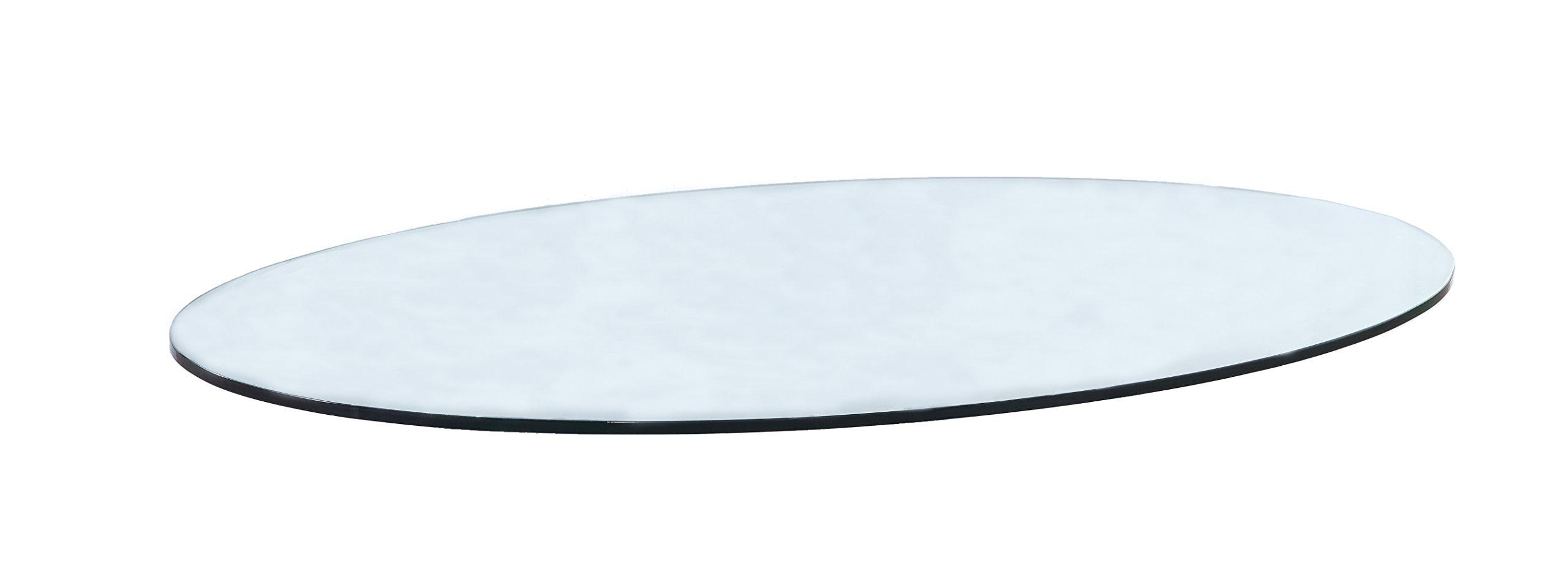 Milan OV305412FECT Table Top, 30'' x 54'', Clear