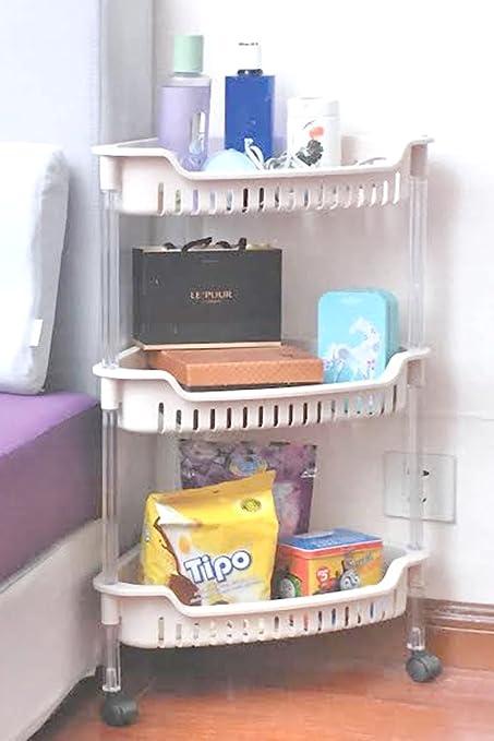 FB FunkyBuys® Estantería plástico accesorio de pie (3 unidades baño ...