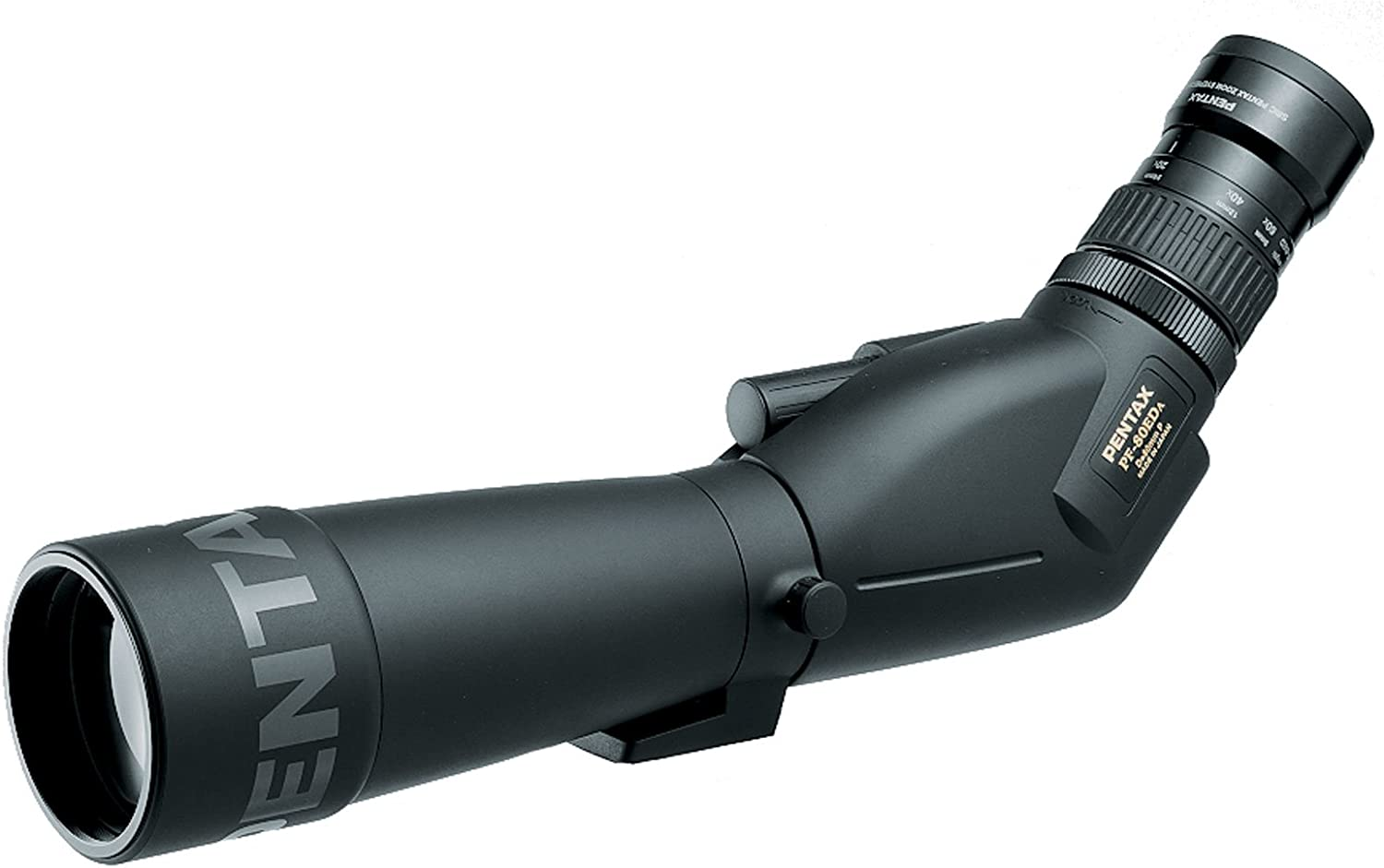 Pentax PF-80ED 80mm ED Waterproof Spotting Scope – Angled – with 20-60x Zoom eyepiece Case – Limited Lifetime USA Warranty