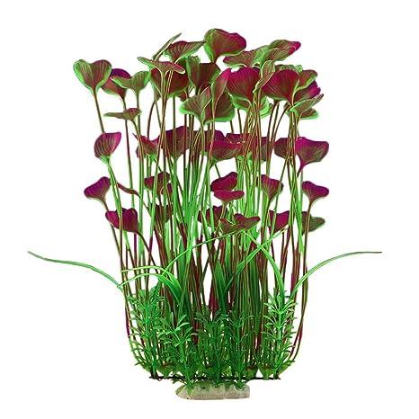BSGP - Plantas Artificiales de plástico para Acuario, para decoración de pecera, Planta Grande