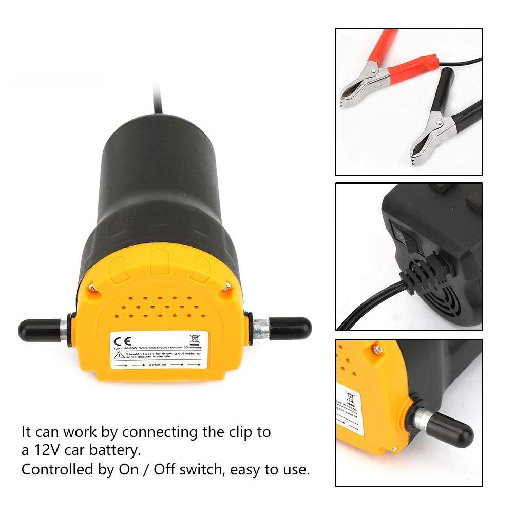 60W Oil//Diesel Suction and Transfer Pump 12V Car Oil Pump