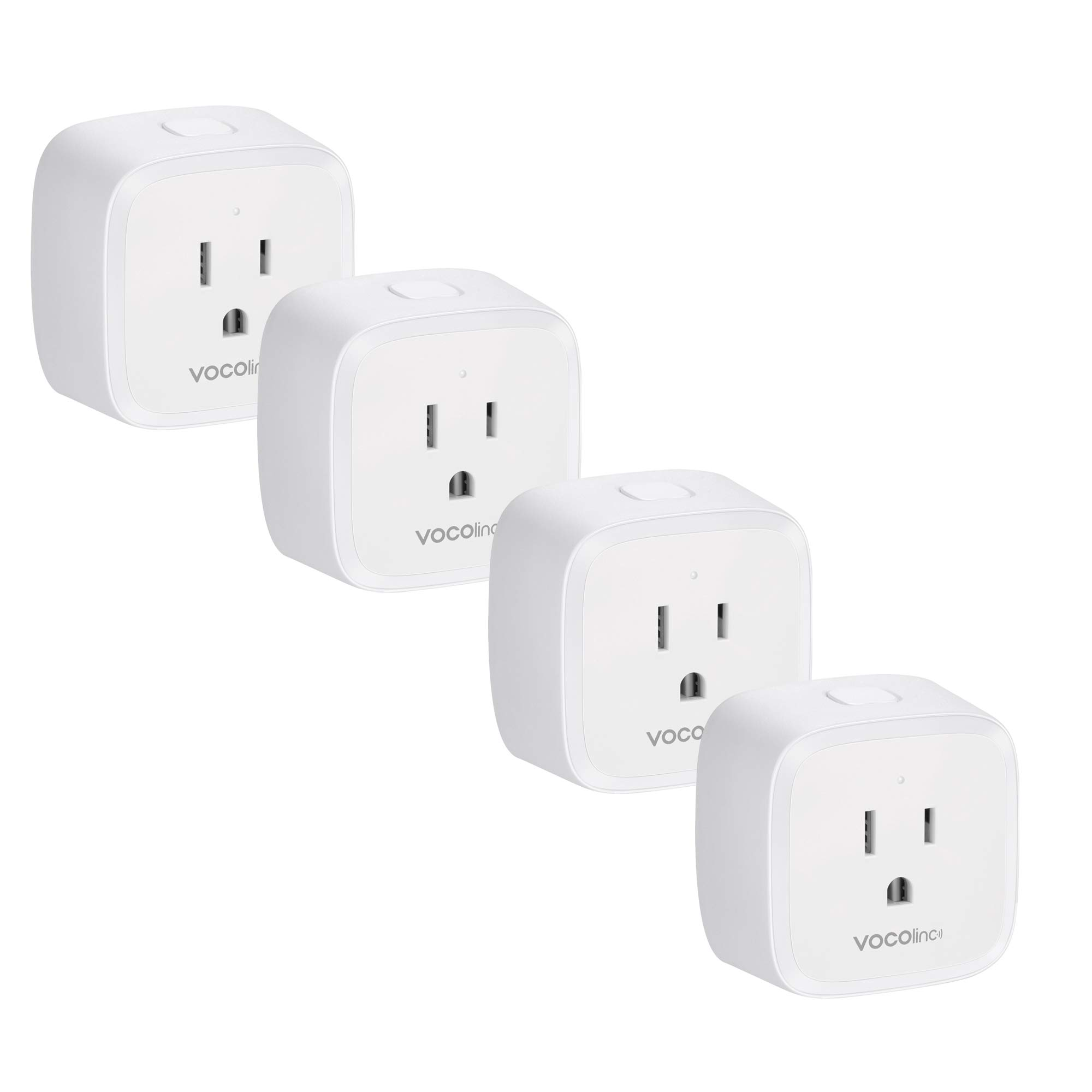 VOCOlinc Smart Wi-Fi Plug Outlet Socket, [Upgraded] Works with Apple HomeKit Alexa and Google Assistant Compatible, Power Meter, Adjustable Night Light, No Hub Required, 2.4GHz, PM1 (4 Pack)