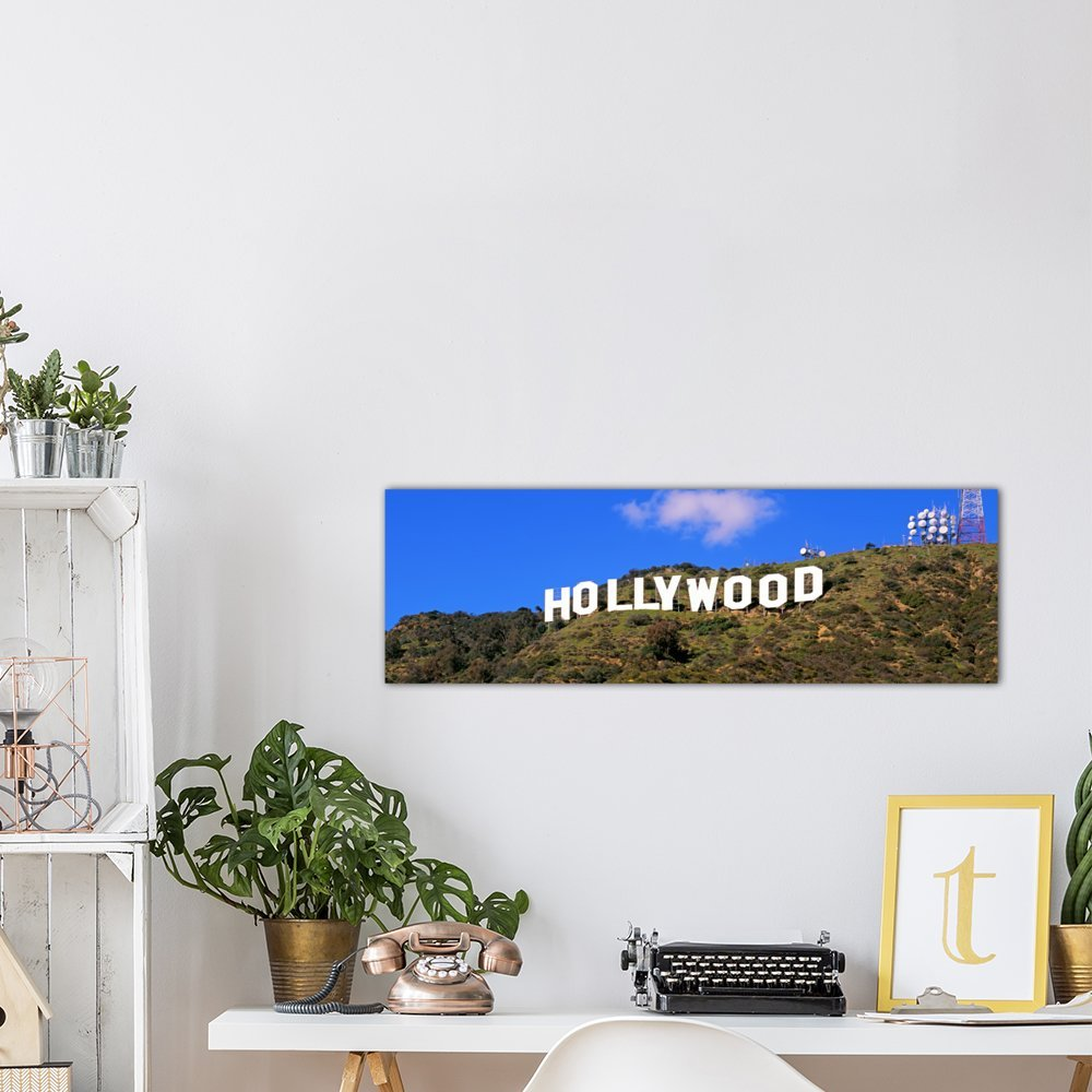 City of Los Angeles California iCanvasART 3-Piece Low Angle View of a Hollywood Sign on a Hill 1.5 by 48 by 16-Inch USA Canvas Print by Panoramic Images