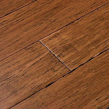 Cali Bamboo   Solid Click Bamboo Flooring, Medium Antique Java Brown, Aged    Sample