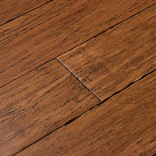 Antique Hardwood Flooring (Cali Bamboo - Solid Click Bamboo Flooring, Medium Antique Java Brown, Aged - Sample)