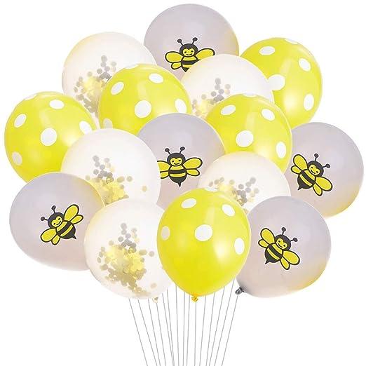 Amosfun - Globo de abeja de látex para decoración de fiestas ...