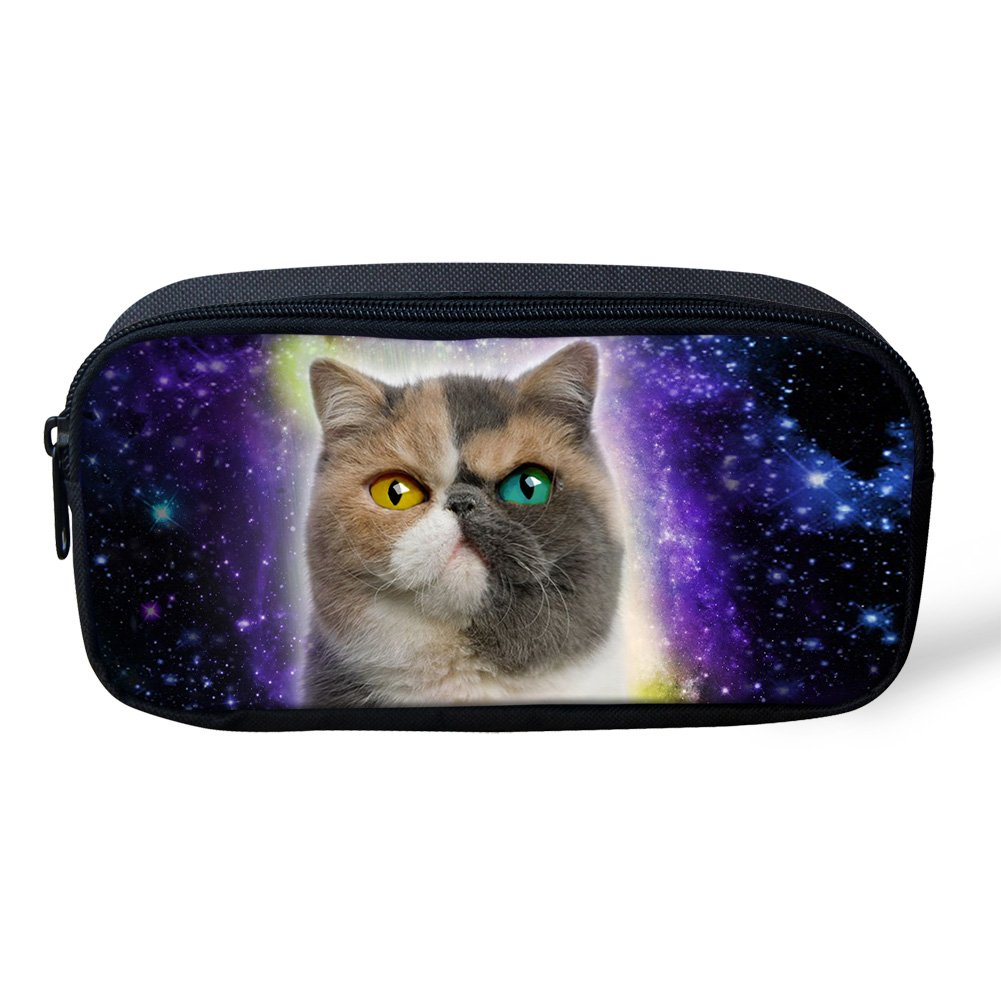 Coloranimal Universe Galaxy Animal Estuche con cierre de cremallera para lápices, color galaxy cat-4. 8.66 inch(L) x1.77 inch(W) x4.33 inch(H): Amazon.es: ...