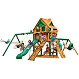 Gorilla Playsets Frontier Treehouse Swing Set with Fort Add-On