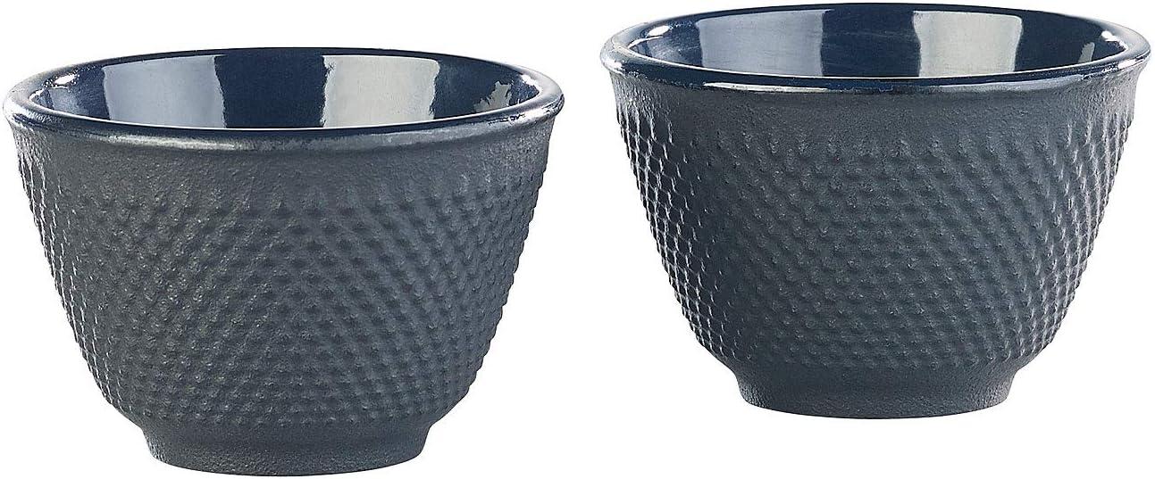 schwarz 4er-Set asiatische Teebecher aus Gusseisen und Emaille Japanische Teeschale Rosenstein /& S/öhne Teetassen Japan