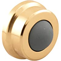 Prime-Line Products J 4570 Door Wall Stop, 1-in, Rubber Bumper, Polished Brass, (Pack of 1)