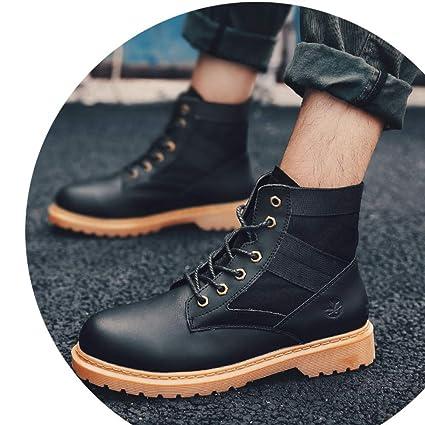 SCARPE DA UOMO Sneakers in Pelle Alte Stivaletti Invernali