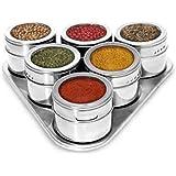 Porta Condimento Magnético Visor Aço Inox Imã Pimenta Sal