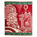 "Ecuadane Southwestern Christmas Large Woven blanket made in Ecuador 82"" x 93"""