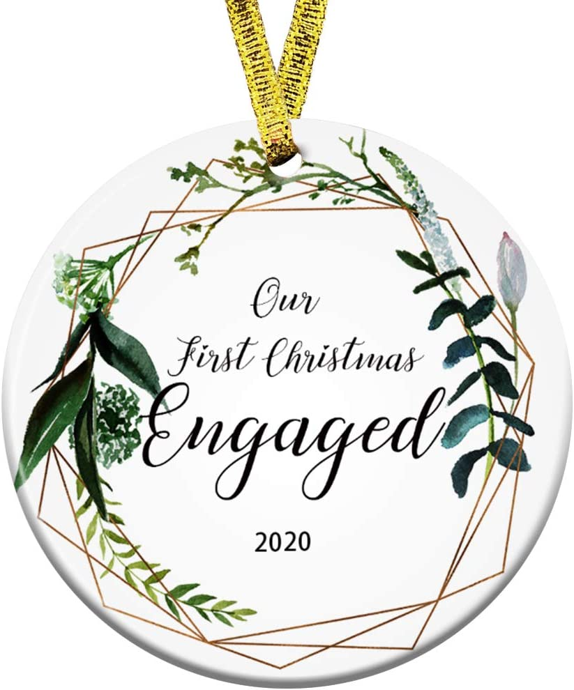 Amazon.com: Kooer Our First Christmas Engaged Ornament 2020