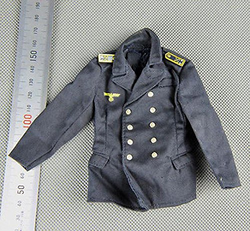 [Hotianq 1/6 Scale WWII German Kriegsmarine Navy Soldier Uniform with Epaulet Jacket Coat Clothes Accessories for 12 Inch Action] (Ww2 Navy Uniforms)
