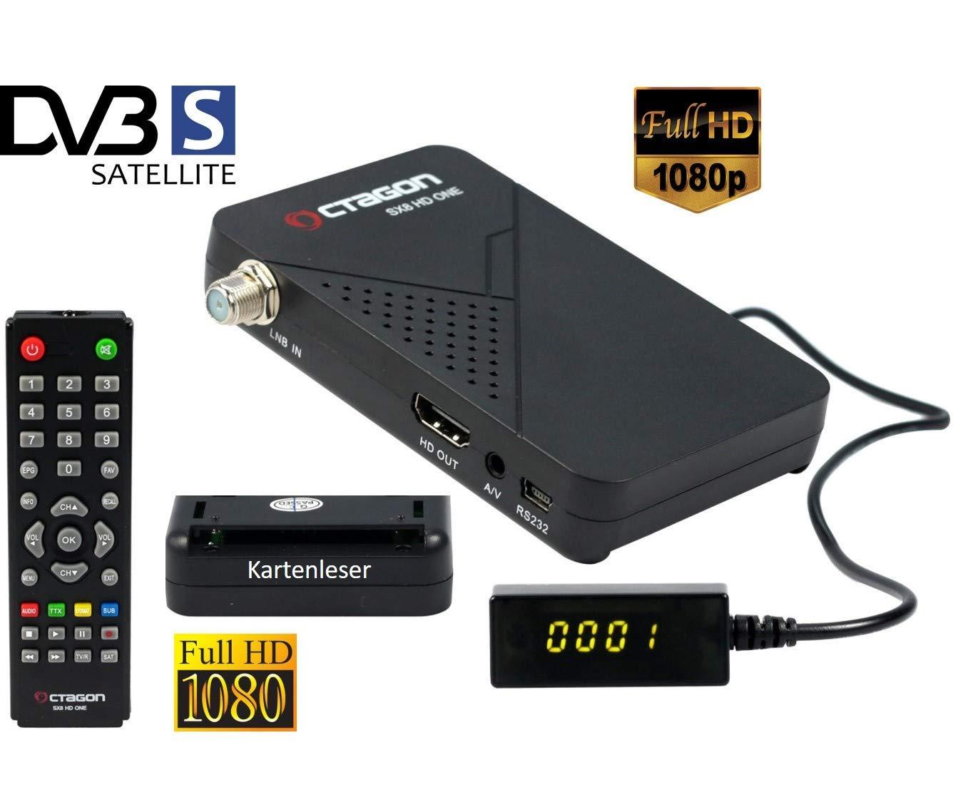 Receptor de satélite Full HD con Lector de Tarjetas y Lista ...