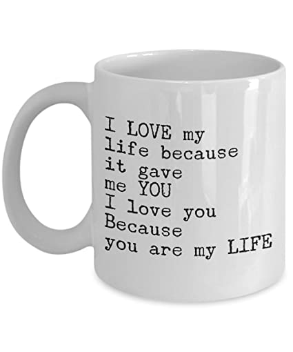 Amazon com: Romantic Gift I Love You Coffee Mug - For Him Her