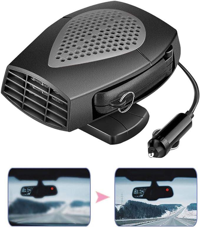 Calentador de coche peque/ño de 150 W calefacci/ón y refrigeraci/ón r/ápidos 2 y 1 calentador de ventilador el/éctrico fr/ío y caliente Voghtic 12 V