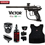 MAddog Kingman Spyder Victor Beginner Protective HPA Paintball Gun Package
