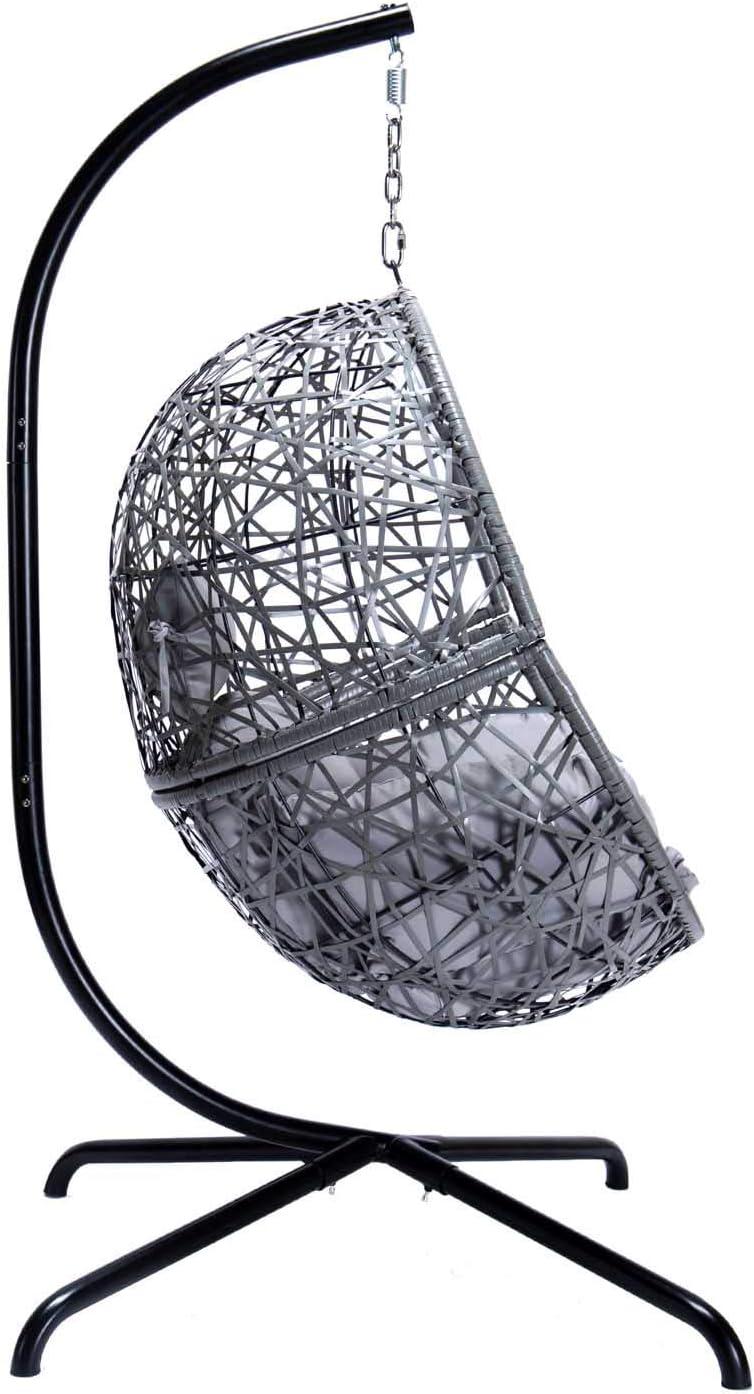 Indoor Outdoor Patio Wicker Hanging Egg Chair