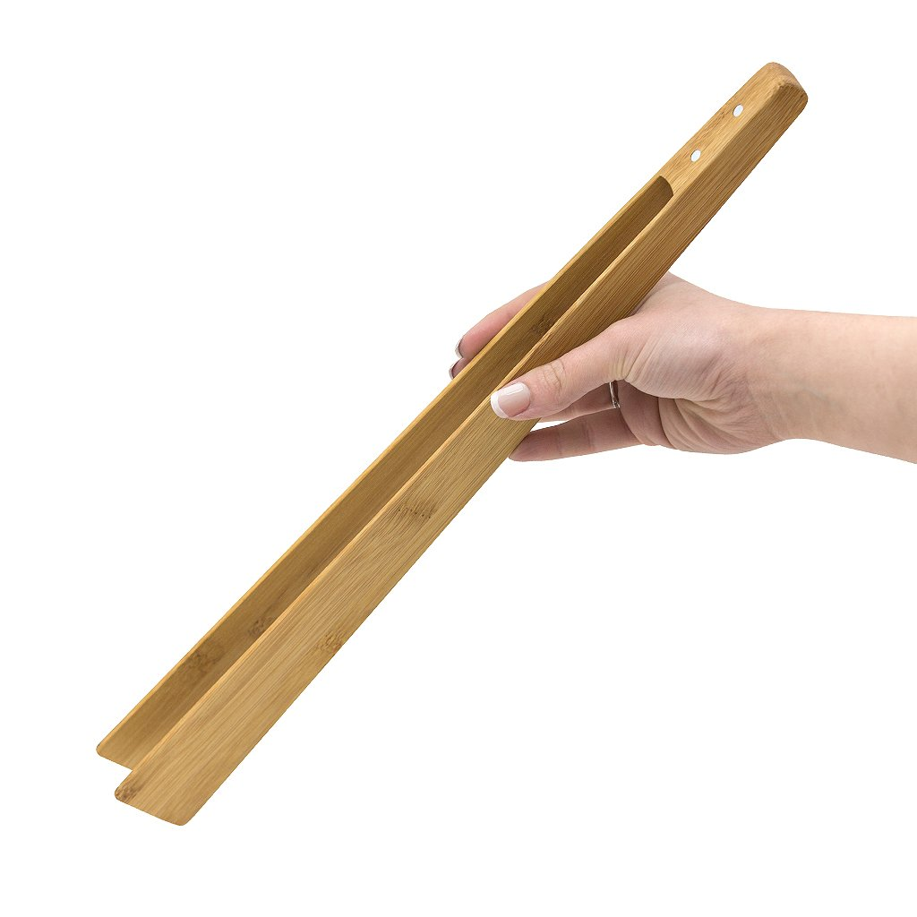 Balvi kitchen tongs Cooking&More  Cooking bamboo tongs Don't scratch Easy cleaning Includes a magnet 30 cm Bamboo 30 x 5 x 3 cm Balvi Gifts S.L.