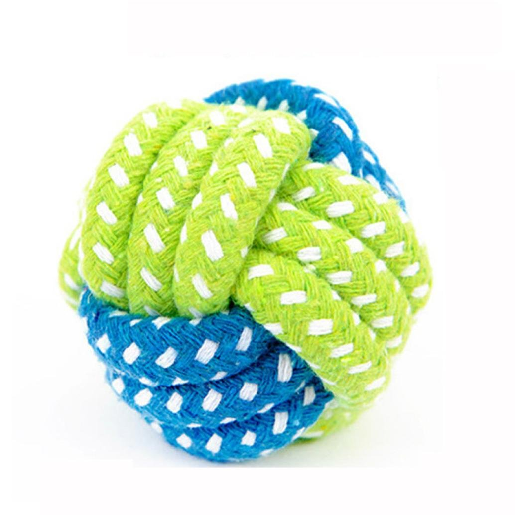 Fabal Dog Toy Chews Cotton Rope Knot Ball Grinding Teeth Odontoprisis Pet Large Small 7 Style Options (F)