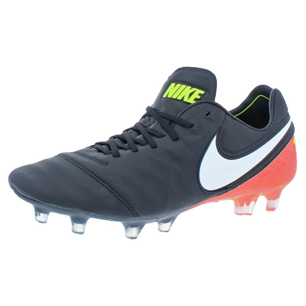 brand new 0dcc2 f609a NIKE Mens Tiempo Leather Cleats Soccer Shoes Black 6.5 Medium (D)