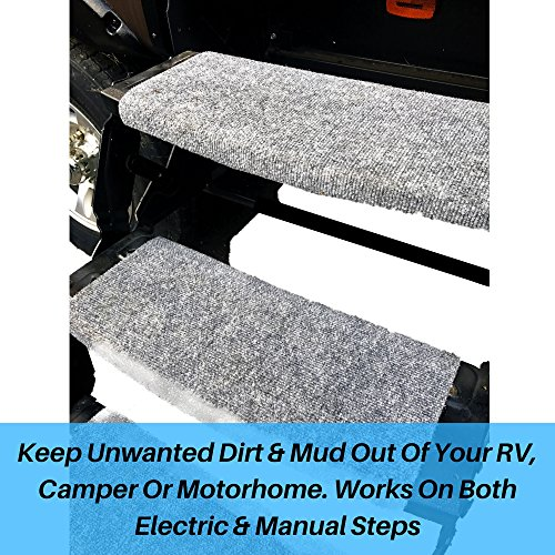Arl Outdoors Grey Rv Wrap Around Step Rug Cover Protects