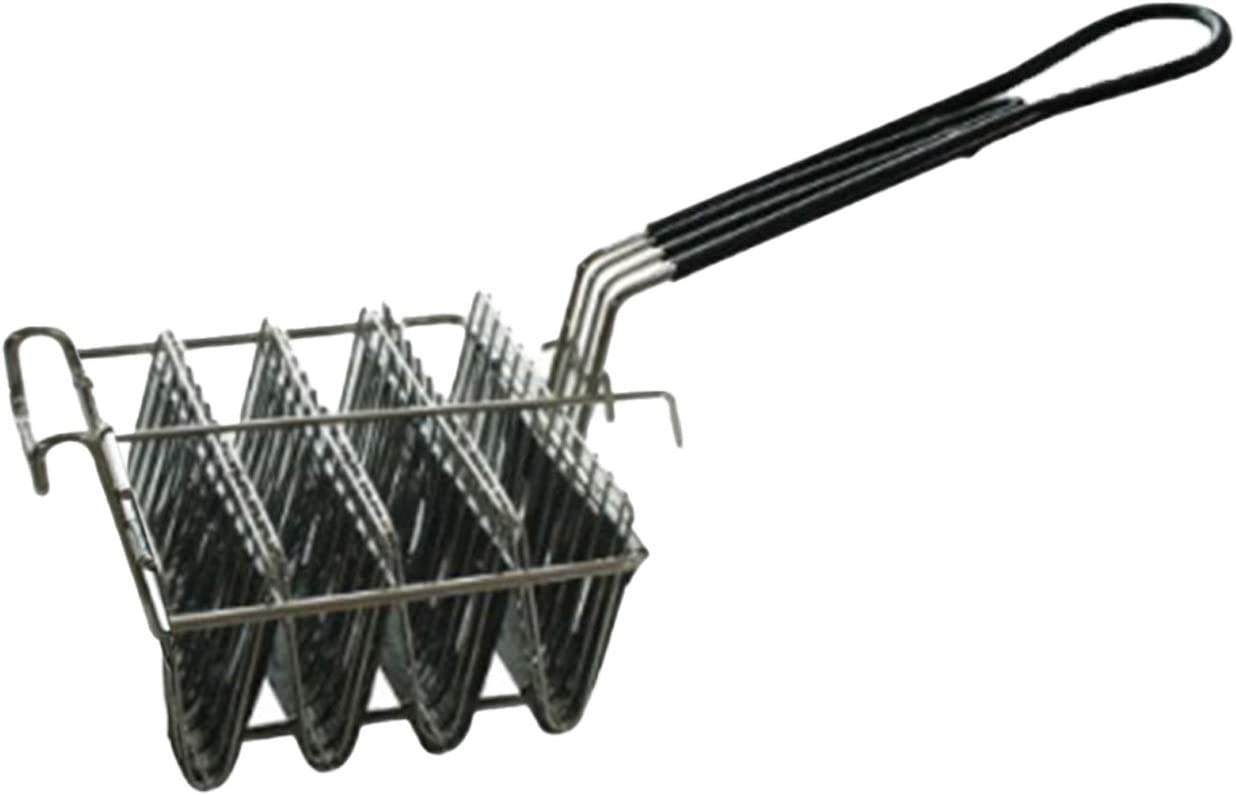 FAMKIT Taco Fryer Basket, Taco Shell Fryer, Holds 4 Shells Deep Fryer Taco Holder Basket with Grip Handle