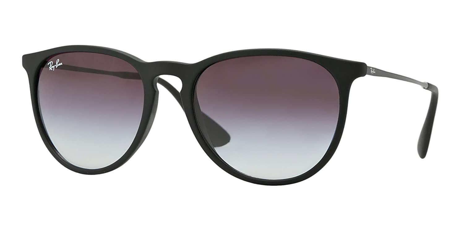 be7c3b5b02 Amazon.com  Ray Ban RB4171 Erika 622 8G Black Rubber  Grey Gradient  Sunglasses  Clothing