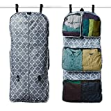 RuMe Tri-fold Garment/Clothing Travel Organizer Bag With Attached Packing Cubes For Clothes And Shoes (Downing)