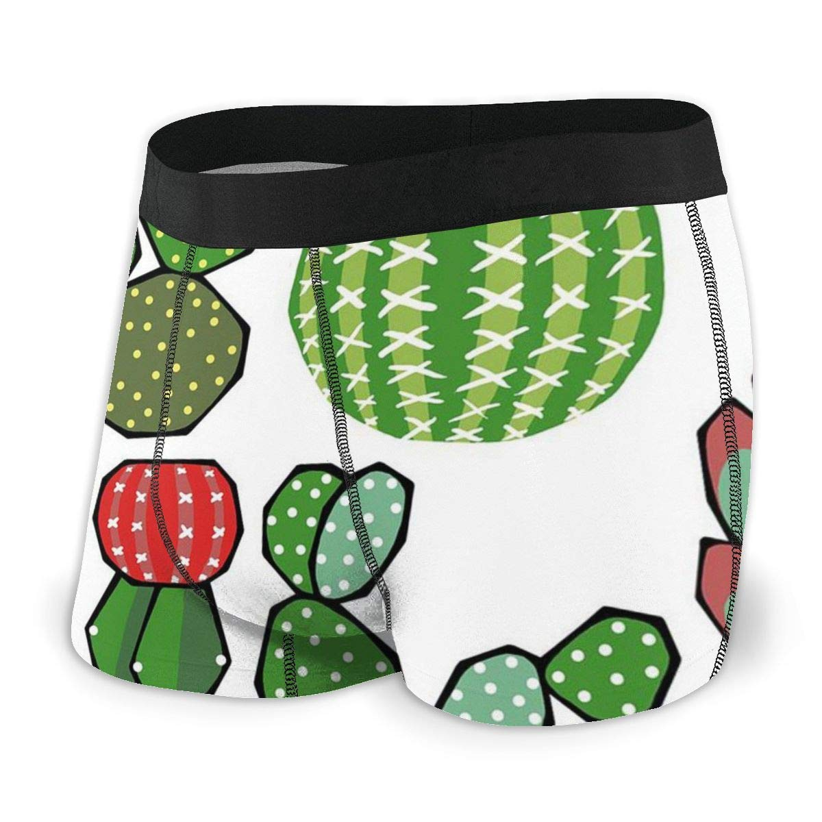 Cactus Flower Mens Boxer Briefs Long No Odor Stretchless Mens Underwear SML XL XXL