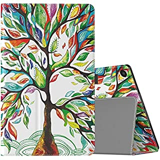 TiMOVO Folio Case for All-New Fire HD 10 Tablet (9th Generation, 2019 Release and 7th Generation, 2017 Release) - Slim Folding PU Leather Stand Cover Case for Amazon Fire HD 10 Tablet, Lucky Tree