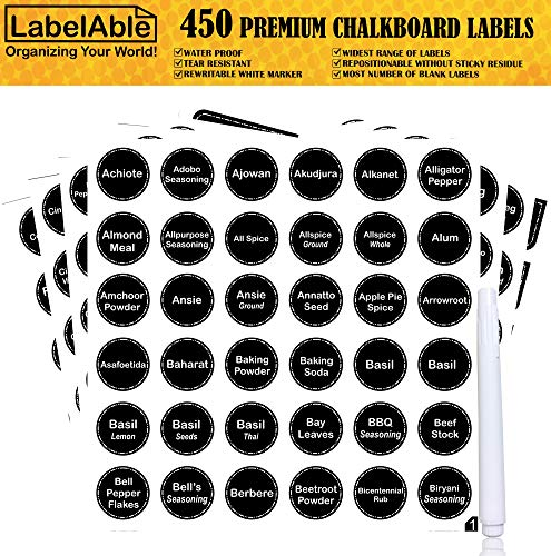 Stickers Chalkboard Numbered Reference Tear Resistant product image