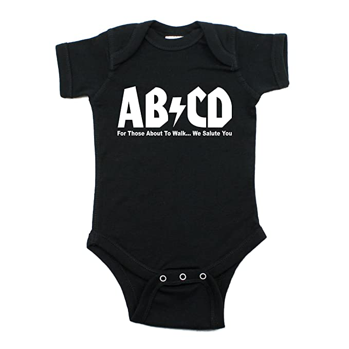 ad0b024e2a03 Amazon.com  Crazy Baby Clothing Unisex Baby ABCD Rock N Roll Short ...