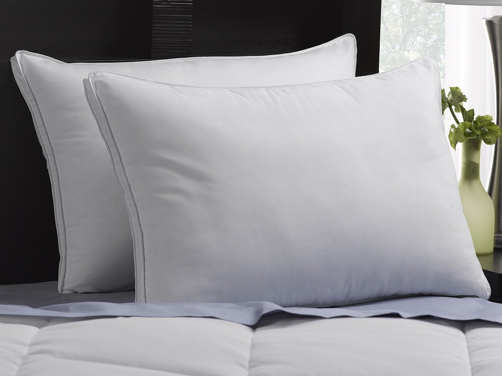 SOFT Exquisite Hotel Pillows Luxury Plush Gel Pillows (2-Pack) - Dust Mite Resistant & Hypoallergenic Peachy Soft Microfiber Gusseted shell - Stomach Sleeper Pillows - Standard Size