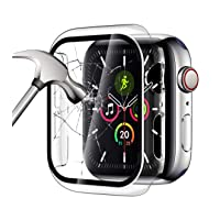 YMHML Clear Case Compatible with Apple Watch Series 3/2/1 38mm with Built-in Tempered...