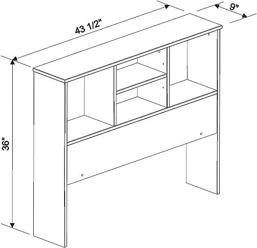 Palace Imports 100 Solid Wood Kansas Twin Bookcase Headboard