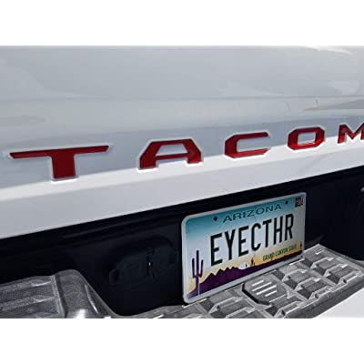 EyeCatcher Tailgate Insert Letters fits 2016-2020 Toyota Tacoma (Red): Automotive