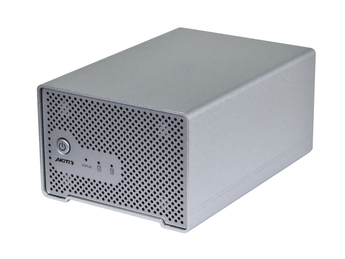 Monoprice Dual Bay Thunderbolt 2 Cactus Bridge Enclosure with Cable - Silver (110943)