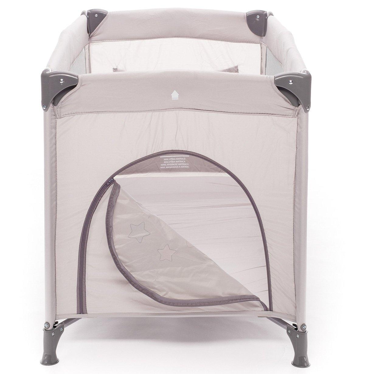 klappbarer Kinderreisebett mit R/ädern mit Schlupfloch und praktischer Ablagetasche Animal Beige inkl ZOPA Kinderreisebett Camping 2 120 x 60 cm Reisebettmatratze