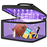 Upgrade LED Storage Bag, USB Rechargeable Portable Box for Cell Phone,Baby Bottles,Pet Toys,Jewelry,Underwear(Black)
