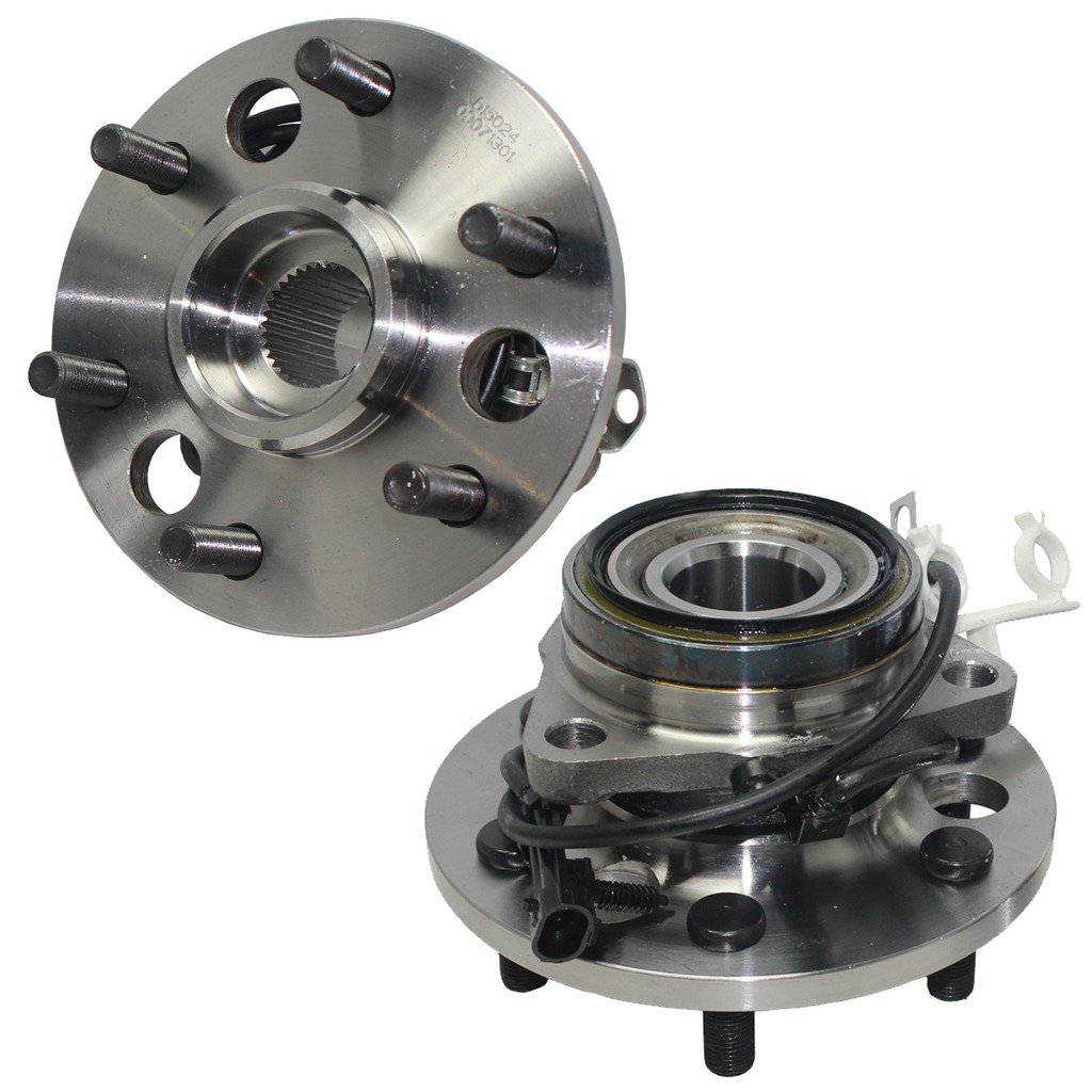 Detroit Axle - 4x4 (Both) Front Wheel Hub and Bearing Assembly Old Square Body Style for 1995-1999 K1500, K2500 Tahoe, Yukon 6 Lug W/ABS…