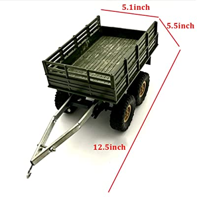 Rojuicy Wpl Four / Six-Drive Military Truck Toy Military Vehicles Toys Simulation Car for Boy,4 Wheel Trailer Accessories Toy Car DIY Upgrade Conversion Accessories: Toys & Games [5Bkhe1104884]