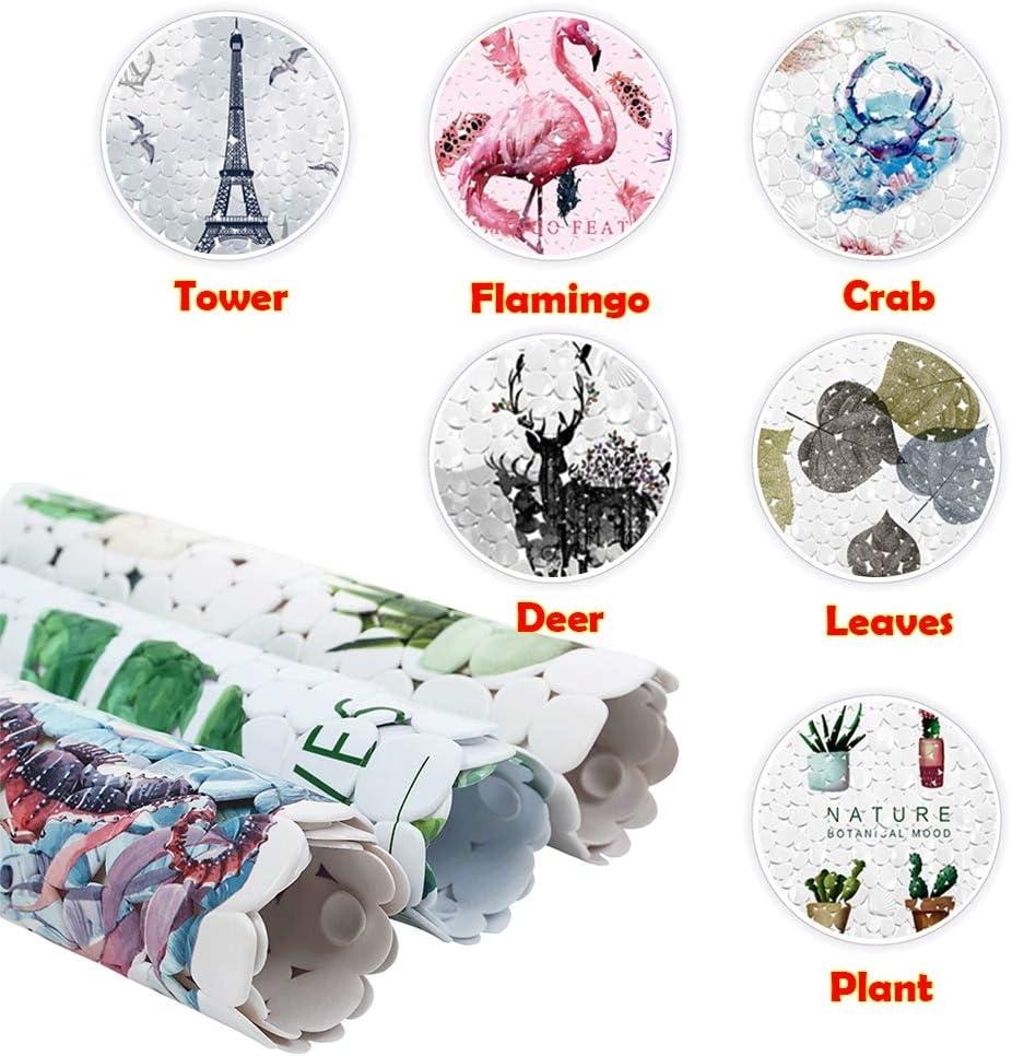 ChuWill Tappetino Doccia Antiscivolo Tappeto Bagno Antiscivolo PVC con Ventose Tappetino per Vasca da Bagno Bambini 【35 * 69cm 】 Cervo
