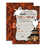 "*** Bigger... Better... and Best of All... Cuter. Presenting Halloween Ghost Invitations Designed by a Mom for Moms. Set of 10 Fill-In Postcards (5""x7"" Each) Comes with 10 White Envelopes *** *2-sided printing for that added pop of color &amp..."