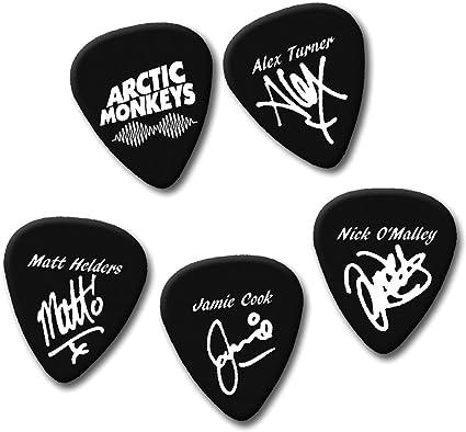 Arctic Monkeys - Púa de guitarra (5 unidades, calibre mediano, 0 ...
