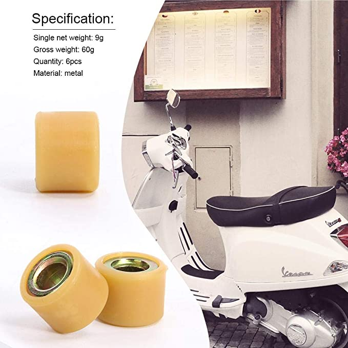 YouN 6pcs Metal Variator Roller Sunny Keeway Scooter ATV Parts for GY6 150CC