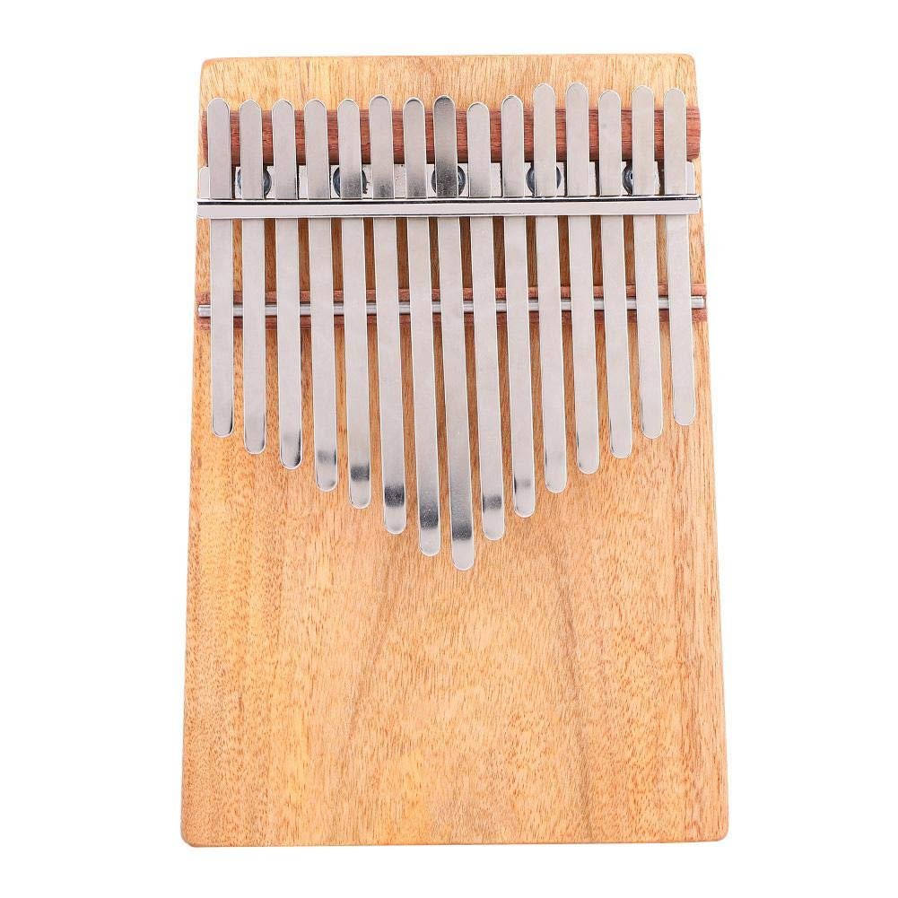 Kalimba 15 Keys Thumb Piano, Portable Full solid Camphorwood 15 Scales G Major Kalimba Instrument with Belt Bag Stickers K15CAP by Dilwe