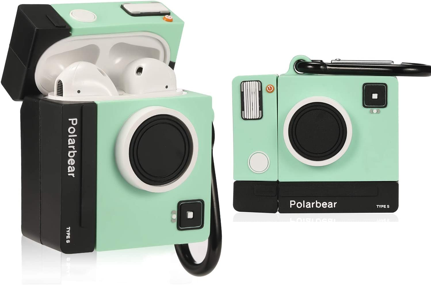 Amazon Com Lupct Green Camera Compatible With Airpods 1 2 Case